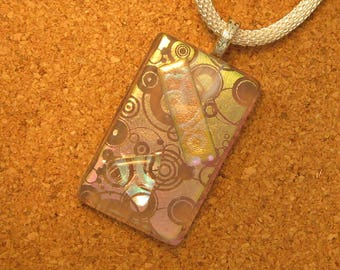 Dichroic Pendant - Dichroic Jewelry - Dichroic Necklace - Fused Glass Pendant - Fused Glass Necklace - Fused Glass Jewelry - Glass Pendant