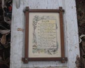 Wooden Picture Frame with Poem to Son