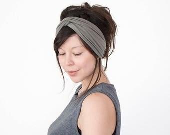 SALE Turban Headband // Fashion Turban // Turband // Stretch Hairband // Hair Wrap // Olive Green