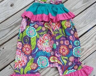 SALE Girls Romper Pattern Tutorial Candy Girl 0 months through 6 girls Instant