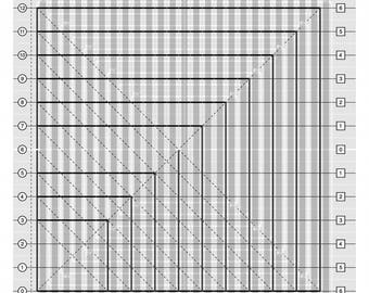 Creative Grids Stripology Squared Quilt Ruler by Gudrun Erla CGRGE2