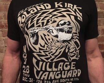 Electric Roland Kirk Tee Shirt, Vintage Village Vanguard Concert Tee Shirt, Jazz Shirt