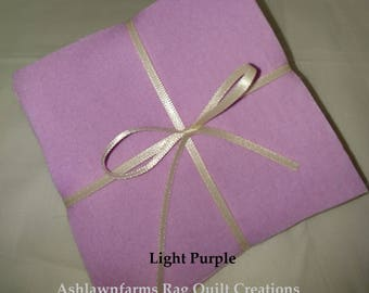 Solid LIGHT PURPLE, FLANNEL Fabric Squares,  Rag Quilt, Traditional Quilting, pick size & quantity, We Cut You Sew
