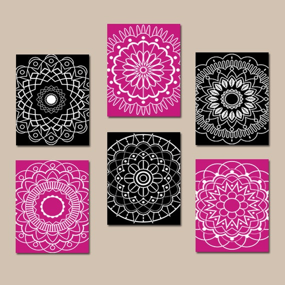 Black hot pink wall art bedroom pictures canvas or prints for Hot pink and black wall decor