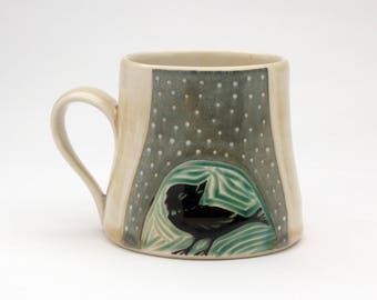 Bird & Leaf Mug- Ruchika Madan