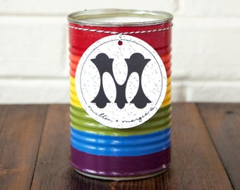 Soy Candle. Pride Rainbow Candle. Citronella Scent. Citronella Candle. Barbecue Candle. Soy Wax Candles. Unique Candle. Summer Scent.