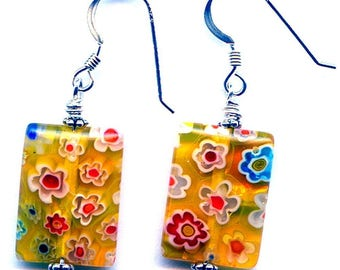 Daisies Do Sterling Silver Earrings