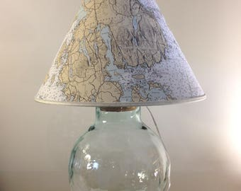 Bar Harbor Maine Fillable Lamp
