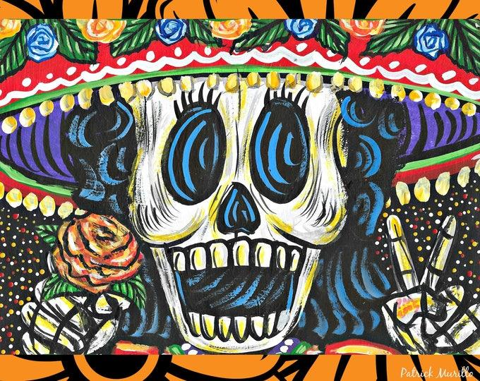 La Muerta PEACE SIGN 5x7 print