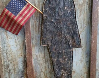 Primitive Americana Flat Abe Lincoln  Hanging.