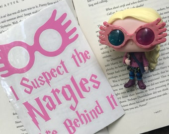 I Suspect the Nargles Are Behind It Luna Lovegood Spectrespecs Harry Potter Inspired Car, Laptop, or Decor Vinyl Decal