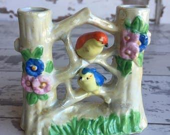 Vintage Vase - Made in Japan Double Vase Love Bird Vase