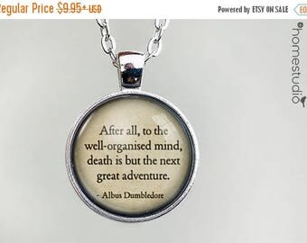 ON SALE - Dumbledore (Death) Quote jewelry. Necklace, Pendant or Keychain Key Ring. Perfect Gift Present. Glass dome metal charm by HomeStud