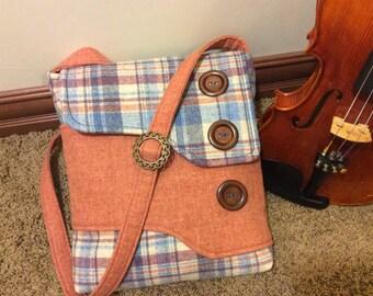 Wool Crossbody Bag or iPad Case