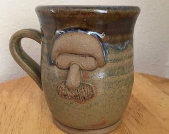 Mustache Monster - Motorcycle Dude - 11 oz Mug