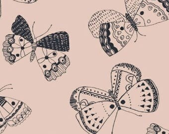 ON SALE Whisper by Victoria Johnson for Windham Fabrics Pink Butterfly