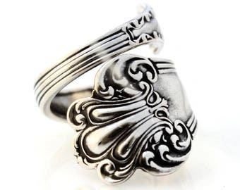 Spoon Ring Sterling Silver Olympia Watson 1903 Size 6-15