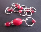 NEW! New Colorway - Doctor Song - Non-Snag Stitch Markers - Choose Your Size