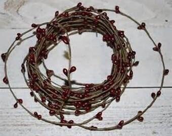 Single Ply Rope Garland Burgundy