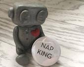 Nap King Pin Badge