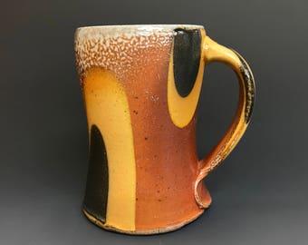 Coffee Mug - Soda Fired Pottery - Soda Glazed - Tokyo Pattern - Ron Philbeck (TKO20)