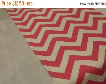 ON SALE PINK Chevron Runners -Chevron pink and white table runners, Napkins, or Placemats,  wedding,  bridal,  home decor zigzag cotton