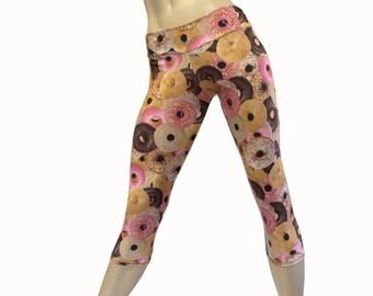 SALE xs/s - Yoga Pants - Workout Clothes - Hot Yoga -TIghts - Fitness - Donut Capri - Donut Pants - Low Rise - Capri - SXY Fitness