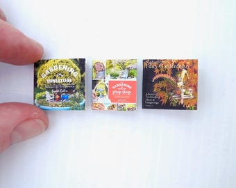 Set of 3 Miniature Books, Includes the NEW Gardening in Miniature Prop Shop, Bestselling First Book, Sophisticated Fairy Gardening in Mini!