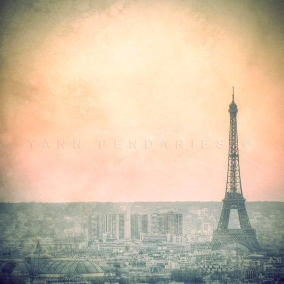 Paris photography, Paris Eiffel Tower decor, Landscape photography, Eiffel Tower photo, Eiffel Tower decor, Paris decor, Fog, pastel decor