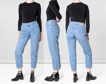 LEVIS 550 JEANS MOM jeans High Waist vintage denim Women 90s blue / Size 10 / 31 32 waist / better Stay together