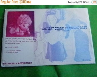 "Christmas in July Vintage ""Angela"" Ozark Crawling Baby Pattern, Doll"