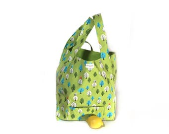 Reusable shopping bag. Owl reusable grocery bag. Shopping tote. Tote bag. Shopsack by relaine.