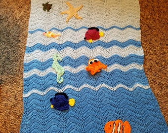 Clown Fish Baby Blanket
