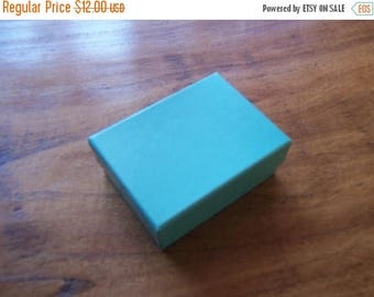 STOREWIDE SALE 50 Pack Teal Blue Cotton Filled 11 Size Cotton Filled Boxes 1  7/8 Inch by 1  1/4 inch by 5/8 Inch Size