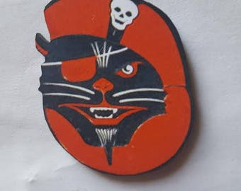 Cat brooch, Pirate, Pirate cat, Cat, Brooch, Cat pin, Kitty, Kitty pin, Retro cat, Crazy cat lady