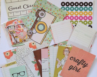 Crafty Girl - The Reset Girl Kit, Planner Kit, Art Journaling Kit, Scrapbooking, Project Life, Cardmaking Kit, Snail Mail, Mail Art