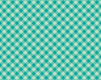 Bee Basics By Lori Holt Gingham Teal (C6400-Teal)
