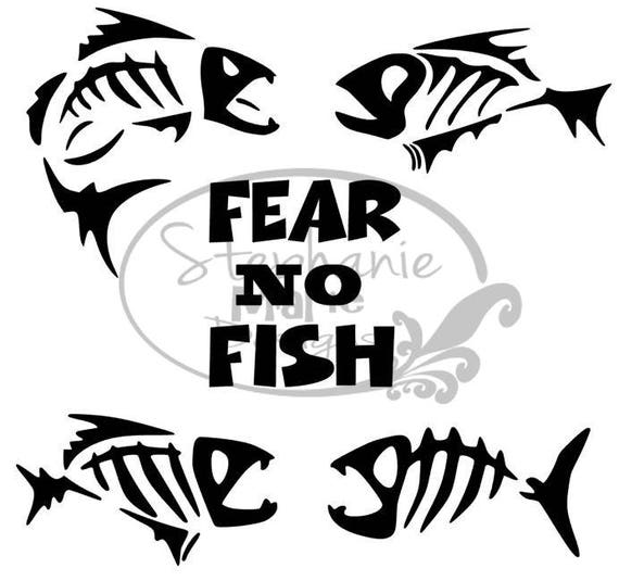 Fear no fish svg cut file for use with silhouette studio for Fear no fish