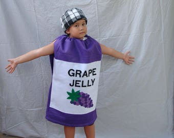 Kids Costume Halloween Costume Jelly Costume Jam Costume Peanut Butter and Jelly PB and J Dress Up Cosplay Toddler Costume Childrens Costume