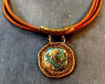 Mermaid Pendant Necklace, Mermaid cameo, Mermaid mold