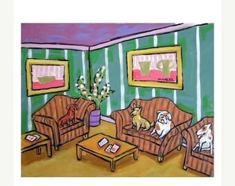 20% off Dogs in the Waiting Room Art Print