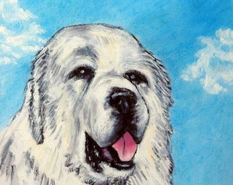 20% off Great Pyrenees with the Sky Dog Art TIle Coaster