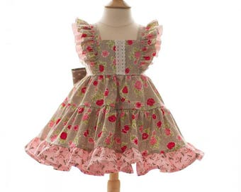 Bunny blooms flutter dress