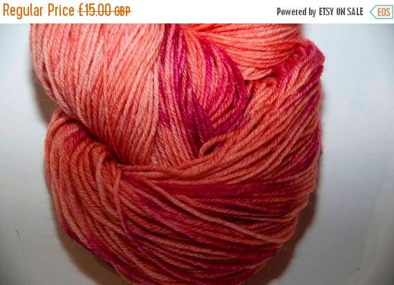 Christmas In July Hand-Dyed Sonora Sunset Colourway 4 ply Yarn Polwarth Snuggly Base
