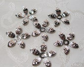 Silver Daisy Filigree Flower Bead Caps 15mm Lead Free 303