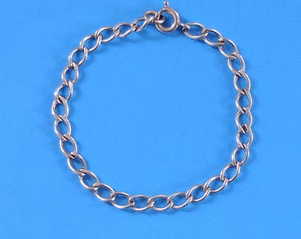 Vintage Sterling Silver Bracelet Little Girl  1950s