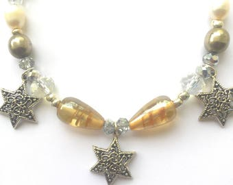 Messianic Necklace / Triple Star of David