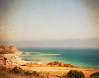 seaside print, beach photo, Palos Verdes photograph, blue green art, boys room decor, office wall art for him, coastal, 8x10 11x14 prints