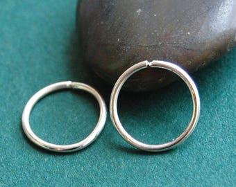 Silver Hoop Earrings * Pair of Hoops * Silver Sleeper Hoops * Tiny Hoop Earrings * Sterling Hoops * Choose Your Size