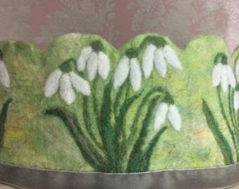 Snowdrop Waldorf Crown Felt Crown Felted Crown Spring Crown Princess Crown Woodland Crown
